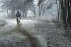 Con el frío en el cuerpo (allabar8769) Tags: bicicletas canal cencellada ciclista niebla personas valladolid