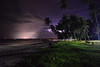 Cloudy Lightning in Bohol (free3yourmind) Tags: electric night lightning clouds cloudy palms trees beach sea bohol island philippines rays light grass