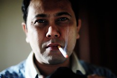 I am not good with surprises anymore (N A Y E E M) Tags: nayeemkalam me nayeem i myself selfportrait selfie bathroom mirror cigarette smoke home rabiarahmanlane chittagong bangladesh today morning availablelight naturallight light indoors