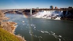 Niagara Falls - New Years 2017 (Cassie D.) Tags: niagarafalls americanfalls rainbowbridge niagara rainbow falls water newyears newyears2017
