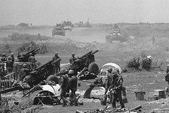 Quang Tri 1972 - South Vietnamese artillery batteries fire across the Dong Ha River into North Vietnamese positions (manhhai) Tags: asia asianhistoricalevent battle historicevent militaryvehicle motorvehicle northamericanhistoricalevent people southeastasia tank unitedstateshistoricalevent vehicle vietnam vietnamwar19591975 vietnamesehistoricalevent war