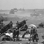 Quang Tri 1972 - South Vietnamese artillery batteries fire across the Dong Ha River into North Vietnamese positions thumbnail