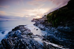 Passeggiata di Nervi (Fili1939) Tags: liguria italy it genova genoa sea waves onde long shutter speed national geographic ngc tripod fairy tramonto sunset landscape clouds sky water bay nature coth
