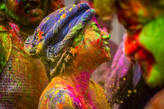 Colorful (Harshal Orawala) Tags: 121clicks india holi holi2017 holi2k17 festival mathura nandgaon colours girl