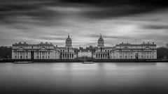 University of Greenwich (Nathan J Hammonds) Tags: greenwich university nd 10stop monochrome blackwhite london city nikon d750 long exposure water cloud landscape smooth moody thames