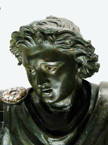 .Alexander the Great on horse. - Bronze of the Roman period (1st century BC) from the original by Lysippos (4th century BC) - Exhibition .Charles of Bourbon [Carlos III] and the diffusion of Antiquities: Naples, Madrid, Mexico. up to March 22, 2017 - Napl