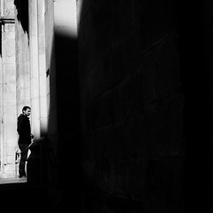 at the door (bemberes) Tags: bw urban bilbao epl3
