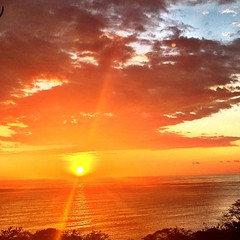 #sunset in #paradise at LaCusinga.com #hotel in #costarica #puravida