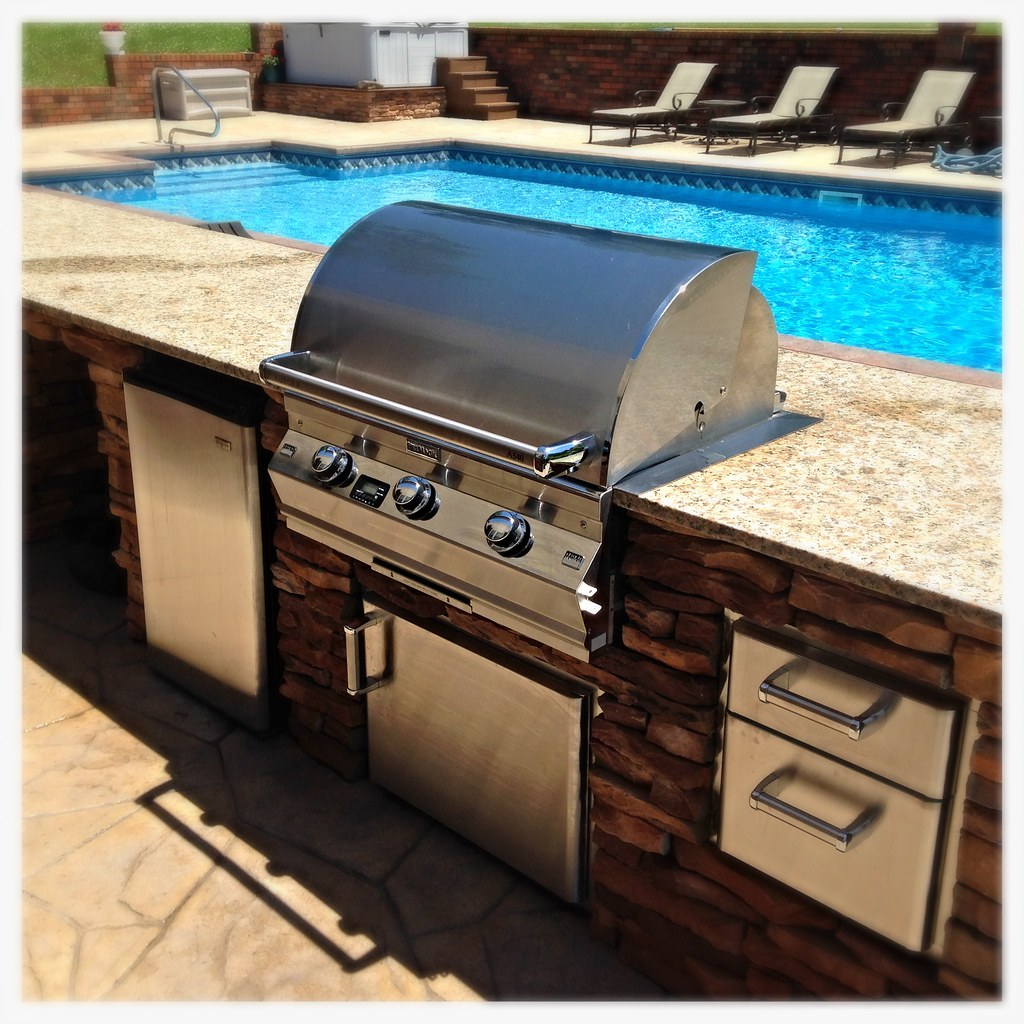 Custom FireMagic Outdoor Kitchen. Dalton, Ga.
