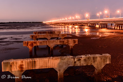 20150817-012-Hornibrook Bridge.jpg (Brian Dean) Tags: bridge sunset night au australia queensland clontarf hornibrookbridge redcliffebridge