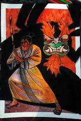 watch out! (Habidul Lebaran) Tags: mix fanart ilustrao desenho cartoonnetwork aquarela samuraijack nanquim acrilica lapisdecor