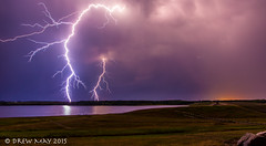Lightning over the Paddle (mdrew70) Tags: sky canada storm rain weather night clouds landscape alberta lightning mayerthorpe drewmayphotography
