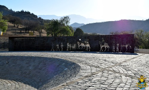 Monument commemorating the Battle of Chacabuco, north of Santiago