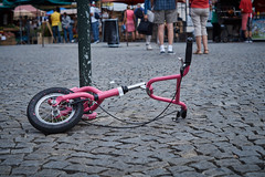 pink bike (MrHansFromSomewhere) Tags: street travel pink vacation bike prague sony prag praha tschechien markt náměstí republiky captureone whathappend slta58