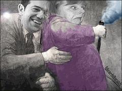 CONTRAPPASSO (edoardo.baraldi) Tags: volkswagen grecia merkel tsipras
