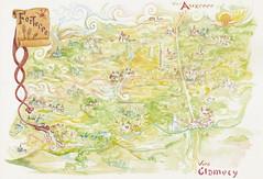 Carte de Forterre 2 (magdalaen) Tags: map carte yonne puisaye forterre