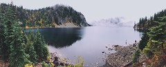 Snow Lake (mlee525) Tags: panorama nature landscape washington hiking snowlake iphone