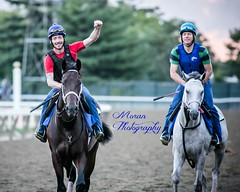 McLaughlin Pair (Howell Mountain on the left) (EASY GOER) Tags: horses horse ny newyork sports race canon track running racing 5d athletes races thoroughbred equine belmontpark markiii