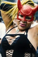 La Diabla (snarulax) Tags: she street city gay red portrait smile mexico drag calle rojo df mask retrato queen attitude blonde rubia devil mascara sonrisa diabla actitud demoness trasvesi