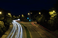 Strae (fadenfloh) Tags: auto street light car night licht nacht spuren strase
