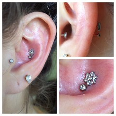 Double Conch Piercings by Taylor Bell