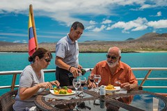Galapagos Sea Star Journey al fresco meals (Galapagos Journey Cruises) Tags: travel cruise tourism nature ecuador galapagos ec romanticdinner latintrails seastarjourney