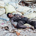 Napping on Rubble Pile