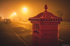 Foggy Llandudno (Roj) Tags: uk red mist fog wales lowlight postbox llandudno northwales gogleddcymru canon5dmkii canonef24mmf14liiusm originalphotographer photographersontumblr sourcerojsmithtumblrcom