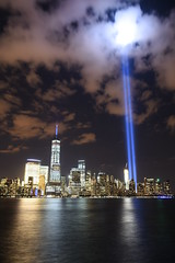 9-11 Tribute In Light 15 (Amaury Laporte) Tags: newyorkcity usa newyork unitedstates 911 landmarks northamerica tributeinlight memorials september11memorial