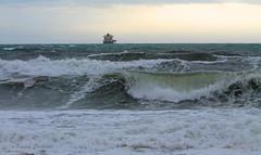 Stormy day (KaseyEriksen) Tags: storm beach waves ship