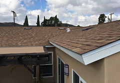 Back of the House (tmvissers) Tags: roof 30 vent sandiego shingles attic udl titanium synthetic roofing corning ventilation owens duration underlayment logsdon deserttan ohagin