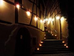 Lichter (almresi1) Tags: night stairs lights candle nacht steps lamps kerzen lichter gasse treppen fachwerkhaus endersbach weinstadt nachtderkeller