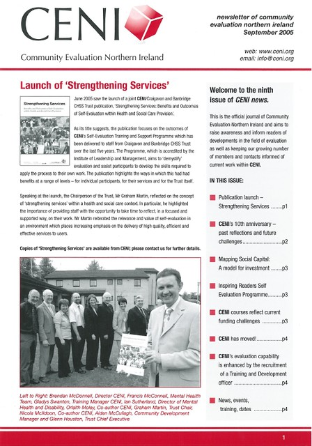 2005 strengthening services ceni news cover