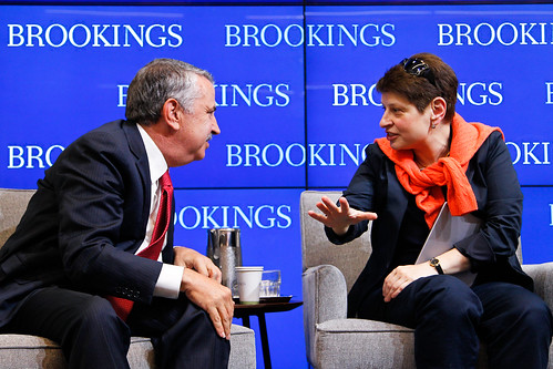"Thomas Friedman and Nina Khrushcheva share thoughts at Brookings book launch: ""Putin's Crimean gamble: Russia, Ukraine, and the new Cold War"""