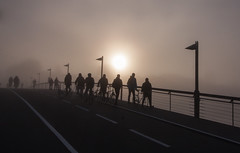 Uni Commuters in the Fog (KaFama) Tags: fog germany december nebel bodensee konstanz constance