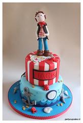Pirate Birthday Cake (partycupcakes) Tags: birthday cake for pirate sons