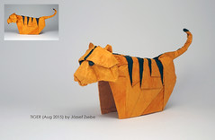 TIGER (Aug 2015) (Zsebe Origami) Tags: cat origami tiger origamitiger zsebeorigami jozsefzsebe zsebesworks