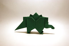 Origami Stegosaurus (Orimin) Tags: paper japanese origami dinosaur handmade reptile craft stegosaurus mindaugas cesnavicius