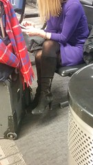 20170109_074734 (ph4eveh) Tags: black boots brown tights sexy legs woman candid