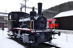 Train old versus new Sihltal Bahn Zurich Switzerland