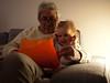 Avec Pouna (Dahrth) Tags: gf1 gf120 gf120mm lumixgf1 panasoniclumixgf1 20mmpancake boy littleboy kid grandfather grandpère couch canapé