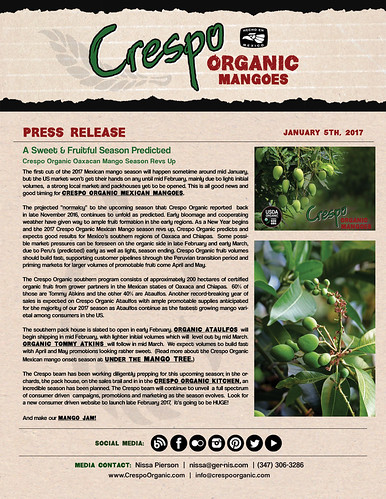 "January 5th, 2016 Crespo Organic Mangoes- Oaxaca • <a style=""font-size:0.8em;"" href=""http://www.flickr.com/photos/139081453@N03/31752529580/"" target=""_blank"">View on Flickr</a>"
