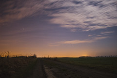 (Luca VS) Tags: night sky stars way clouds étoiles paysage nocturne belgique ciel nuit
