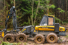boys' toys (2) (grahamrobb888) Tags: nikon nikond800 nikkor50mmf18 birnamwood perthshire scotland dullweather trees industry forest mud