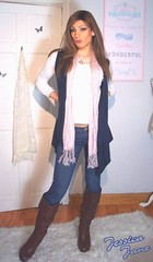 Scarf & Boots (jessicajane9) Tags: tv cd trans transgender transvestite tgurl trap tilf tranny tg feminised feminized femme m2f boy2girl lgbt crossdress crossdresser crossdressing