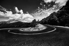 Paths (brilandis) Tags: road street monochrome bw sony a7rii samyang 14mm greece