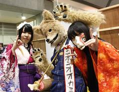 Cosplayers at Design Festa (Design Festa) Tags: tokyo tokyobigsight designfesta designfestavol44 artfestival artevent artfair convention japaneseartfestival japaneseconvention japanese cosplay costume wolf