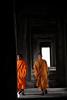 Monks Wander Through Angkor Wat (El-Branden Brazil) Tags: monks angkorwat buddhism monk orange angkor cambodia cambodian southeastasia asian asia