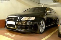 Audi RS6 Avant C6 (Monde-Auto Passion Photos) Tags: auto automobile audi rs6 avant break noir france paris parking sportive