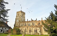 Jackdaws flying above the tower at Knowle Parish Church (cowcornerman1) Tags: knowle church knowlwchurch